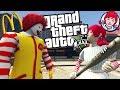 RONALD MCDONALD VS THE WENDYS GIRL MOD (GTA 5 PC Mods Gameplay)