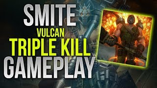 Smite | Vulcan | Triple Kill | WARxVGCx | Gameplay | Assault |