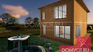 Дуплекс двухэтажный кирпичный дом «Хайвей» в Краснодаре