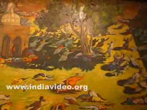 Paintings in Martyrs well at Jallianwala Bagh
