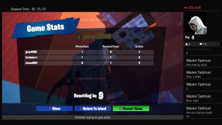 Playing fortnite trying to get dubs
