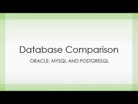 Database Comparison In Between Oracle MySQL PostgreSQL - YouTube