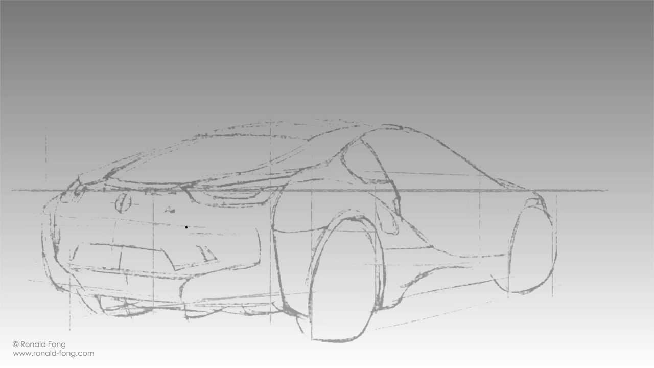 Bmw I8 Sketch Back View Youtube