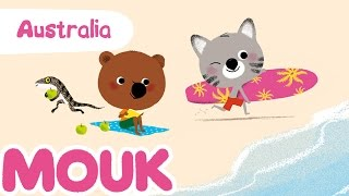 Mouk discovers Australia - 30 minutes compilation HD | Cartoon for kids