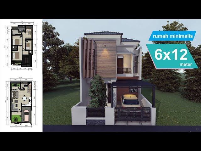 Desain Rumah Minimalis Dengan Tempat Usaha design rumah minimalis 6 x 12 meter youtube