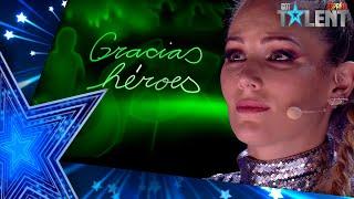 El HOMENAJE a los HÉROES de la PANDEMIA emociona a Edurne | Semifinal 04 | Got Talent España 2021