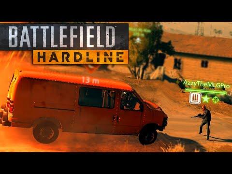 Battlefield Hardline Funny Moments - Exploding Bridges, Walking Glitch, Best Hiding Spot (Funtage!)