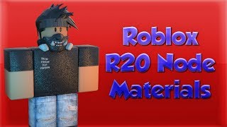 Roblox GFX Tutorial - How to use Material Nodes in R20