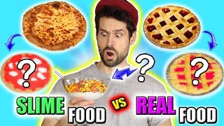 SLIME vs REAL FOOD CHALLENGE FRANCAIS - HUBY