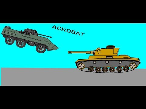 Acrobatic Duel  Tank Cartoon 