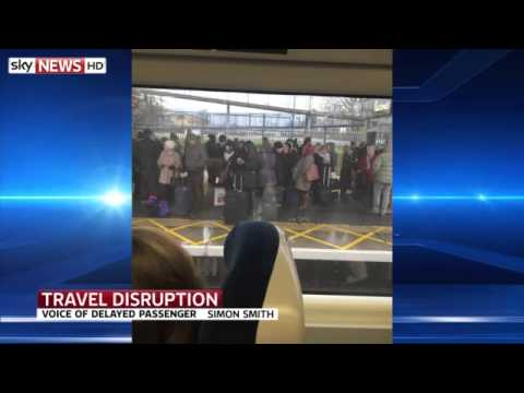 Travel Chaos As Engineering Works Close Train Stations