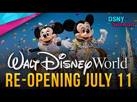 WALT DISNEY WORLD RE-OPENING DATE ANNOUNCED - Disney News - 5/27/20