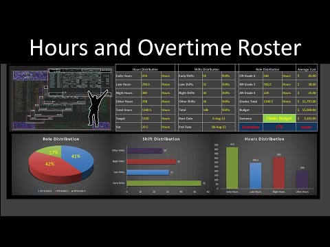 excel roster to calculate hours and overtime youtube
