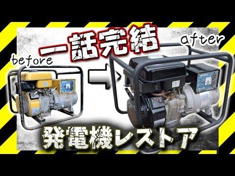 発電機を修理、レストアする メカブログ Lite Restoration Portable generator