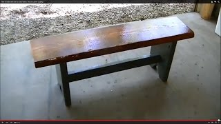 How To Make And Stain A Rustic Bench. Trick To Control Cupping