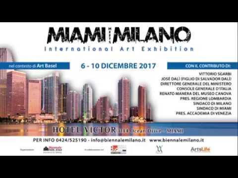 Salvo Nugnes, Vittorio Sgarbi, Alberto d'Attanasio e José Dalì presentano MIAMI MEETS MILANO a Roma