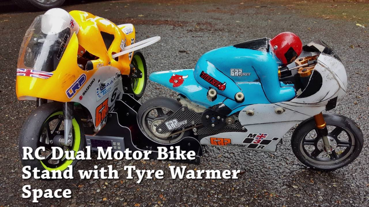 Dual Radio Control Rc 1 5 Scale Motor Bike Stand With Space