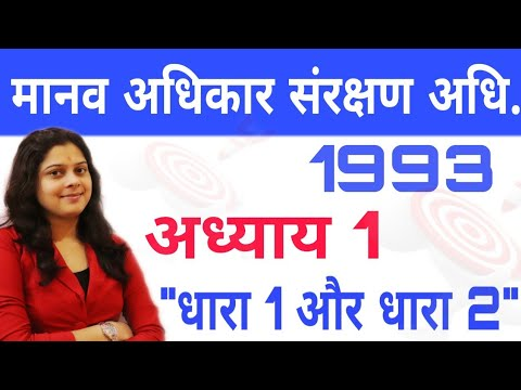 मानव अधिकार संरक्षण अधिनियम 1993-HUMAN RIGHTS PROTECTION ACT 1993-MPPSC PRE AND MAINS