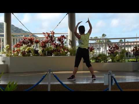 Luk Tung Kuen Exercise at Marina in Hawaii Kai everydaytaichi lucy chun Honolulu, Hawaii