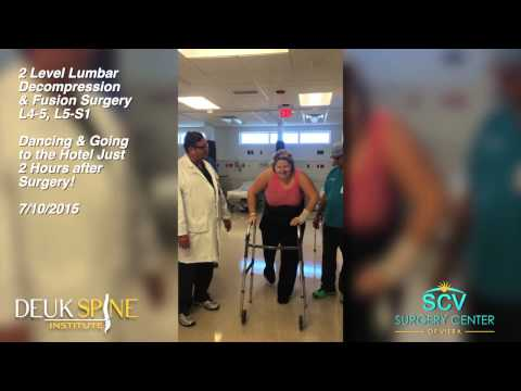 Sara -  2 Level Lumbar Decompression & Fusion Surgery; L4-5, L5-S1