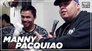 Manny Pacquiao Speaks On Keith Thurman's Trash Talk, Mind Set Going Into The Fight, And More!