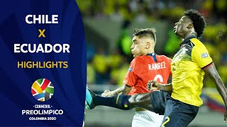 Ecuador 0-3 Chile   Preolímpico 2020