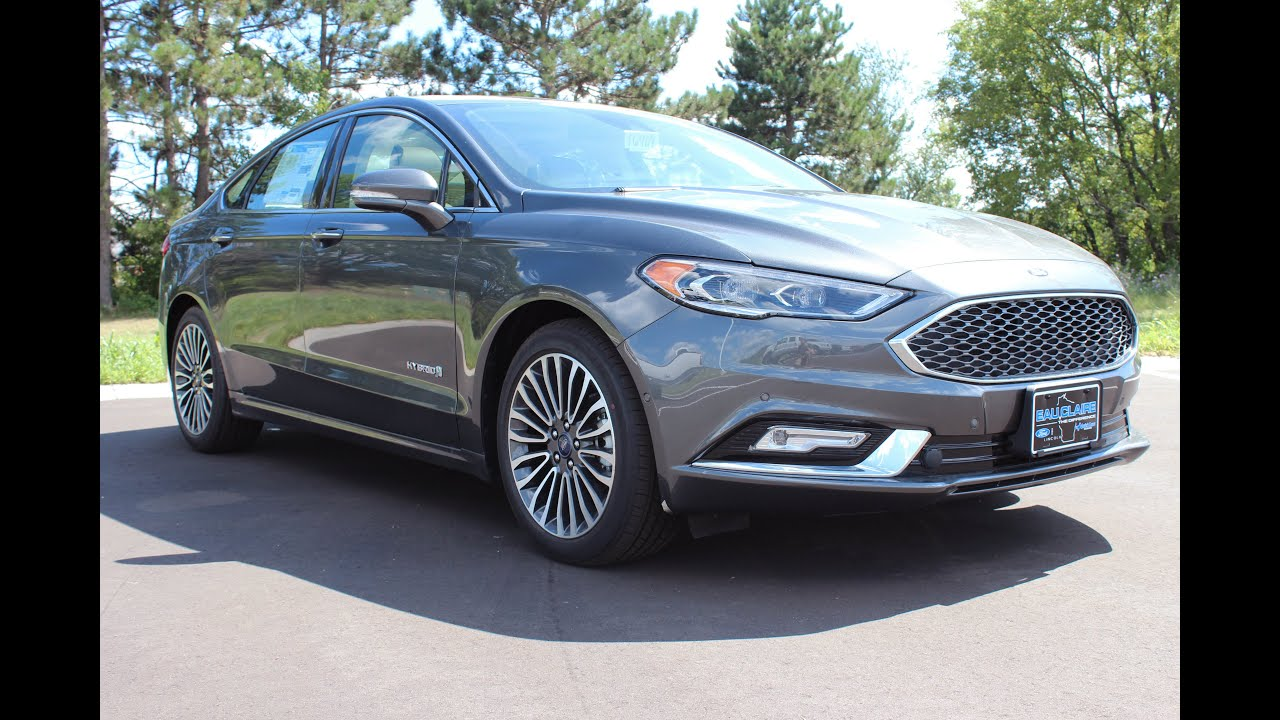 2017 ford fusion hybrid platinum at eau claire ford lincoln quick lane youtube. Black Bedroom Furniture Sets. Home Design Ideas