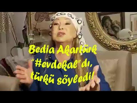 """Bedia Akartürk...PANDEMİDE """"#EVDEKAL""""DI,TÜRKÜ SÖYLEDİ"""