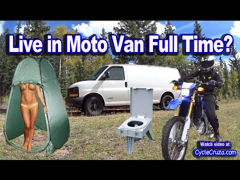 Chevy Express Van >> Living in Bug Out Moto Van | Moto Vlog - YouTube
