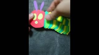 子どもに大人気☆クネクネ動くはらぺこあおむしが折り紙で簡単に作れます.
