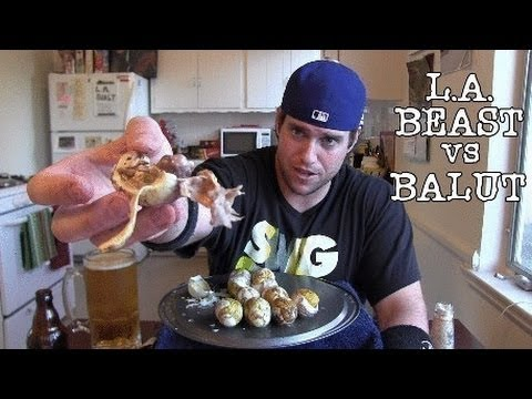 L.A. BEAST vs BALUT (HOW TO PEEL AND EAT) Part 1