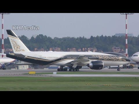 B77L Equatorial Guinea Government P4-SKN SVO 2018 Шереметьево Boeing 777 B777-200LR