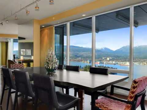 AMAZING INTERIOR DESIGN - LUXURY INTERIOR OF PENTHOUSE WITH BEAUTIFUL  PANORAMIC ENTIRE CITY VIEW