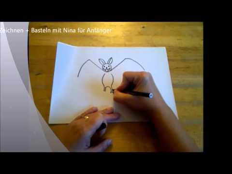 Fledermaus für Halloween zeichnen. (Für Anfänger)    How to Draw Halloween Bats