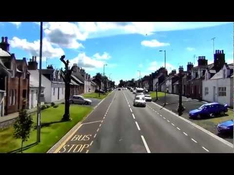 Ayr - Dumfries bus ride video part 2 New Cumnock - Thornhill