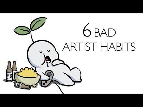 6 Bad Artist Habits to Avoid