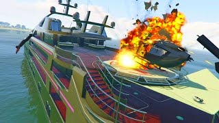 GTA 5 WAR #8 - YACHT WARS! (GTA 5 Online)
