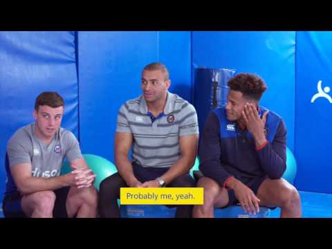 Bath Rugby players tackle the BIG questions in Aviva's mini interview!