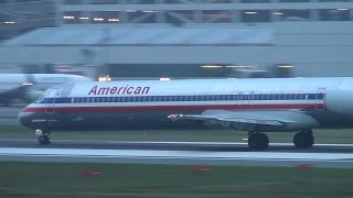 american airlines n962tw md83 takeoff portland airport pdx