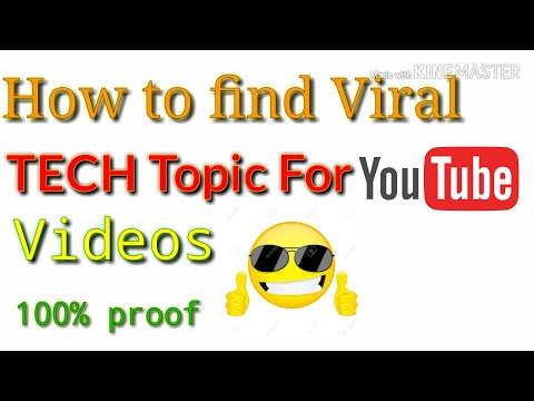 How to Find Viral TECH Topics for making YOUTUBE Videos ||Amazing Trick Must Watch