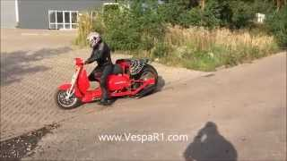 VESPA 1000CC DRAG SCOOTER TEST RUN !!!!! EXTREEM !!!!!!!