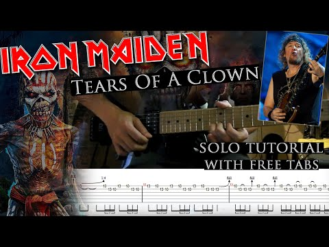 How to play Adrian Smith's solos #14 Tears Of A Clown (with tablatures and backing tracks)