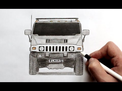 Как нарисовать машину Хаммер Х-2 (Ehedov Elnur)How To Draw A Hummer H2 Step By Step