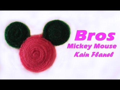 cara-membuat-bros-mickey-mouse-dari-kain-flanel