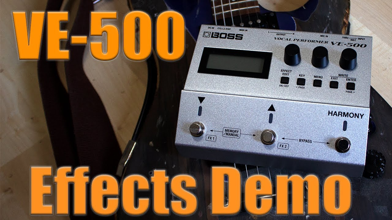 Boss VE 500 Vocal Effects | FX Demo