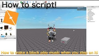How to make a block play music! | ROBLOX STUDIO (tutorial)