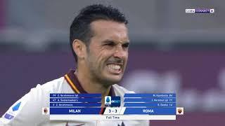 إبراهيموفيتش يسجل ثنائية وروما يجبر ميلان على التعادل | ميلان 3 روما 3