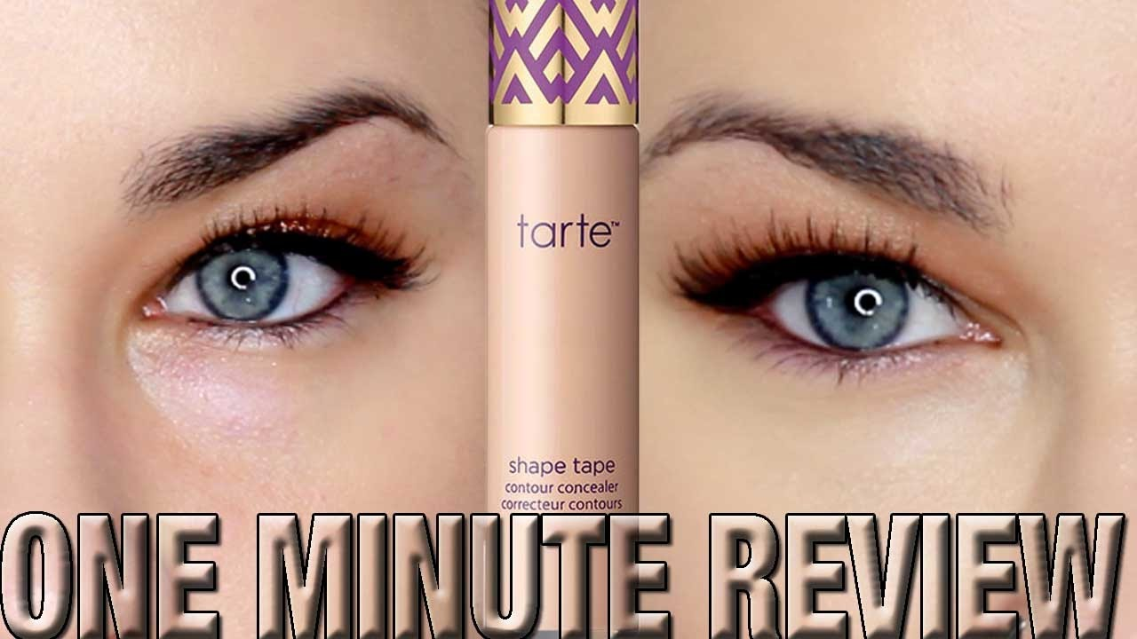 Tarte Cosmetics SHAPE TAPE Concealer ONE MINUTE REVIEW