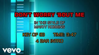 Marty Robbins - Don't Worry (Karaoke)