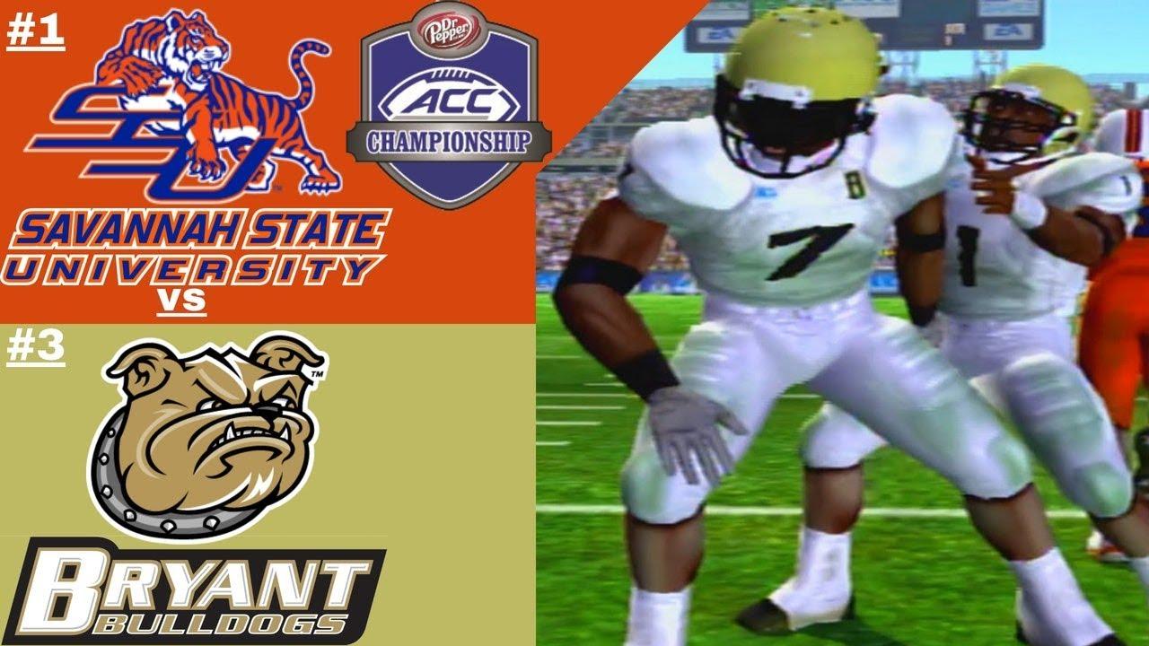 sports shoes 34b8c 1ec68 NCAA Football 06 FCS Dynasty | ACC Championship #3 Bryant Bulldogs vs #1  Savannah State Tigers